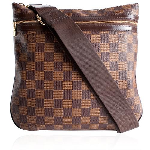 Louis Vuitton Damier Ebene Pochette Bosphore Shoulder Handbag