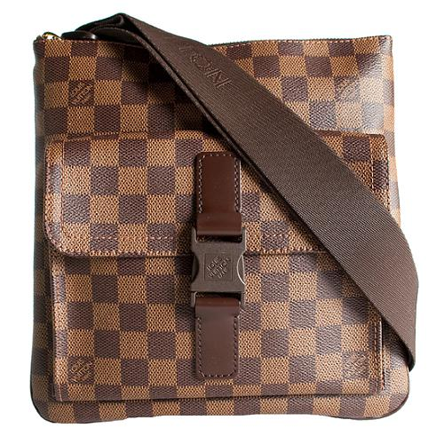 Louis Vuitton Damier Ebene Pochette Melville Messenger Bag