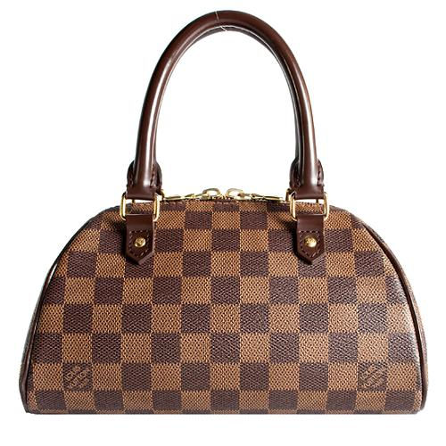 Louis Vuitton Damier Ebene Ribera PM Satchel Handbag