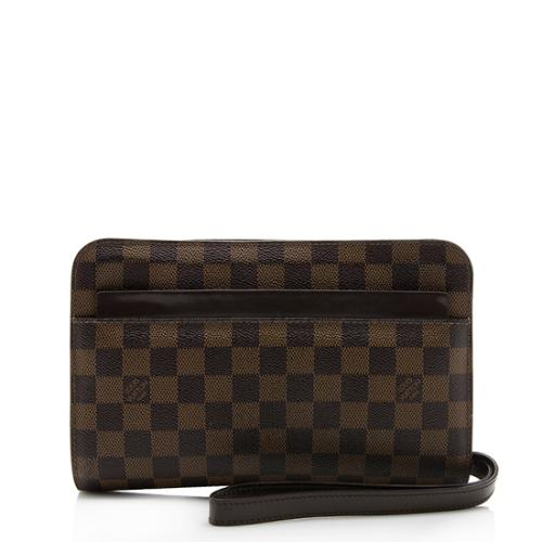 Louis Vuitton Damier Ebene Saint Louis Wristlet Clutch