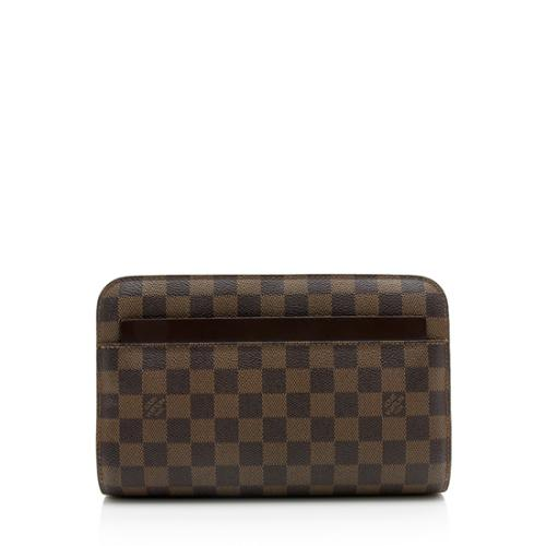 Louis Vuitton Damier Ebene Saint Louis Wristlet Clutch