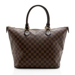 Louis Vuitton Damier Ebene Saleya MM Tote