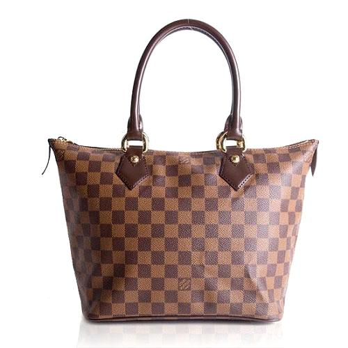 Louis Vuitton Damier Ebene Saleya PM Satchel Handbag