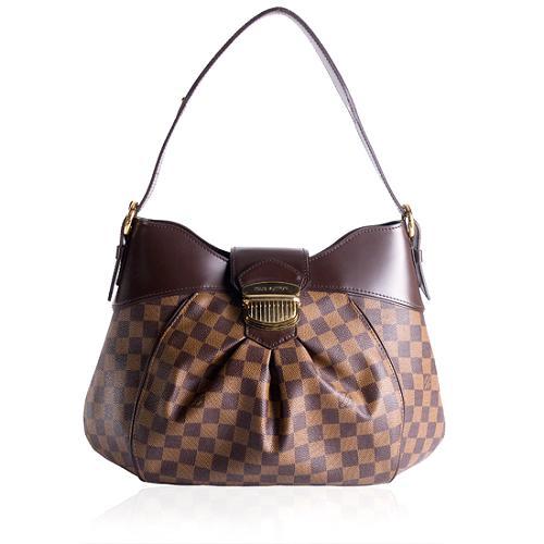 Louis Vuitton Damier Ebene Sistina MM Shoulder Handbag