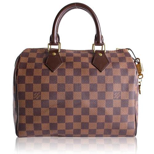 Louis Vuitton Damier Ebene Speedy 25 Satchel Handbag
