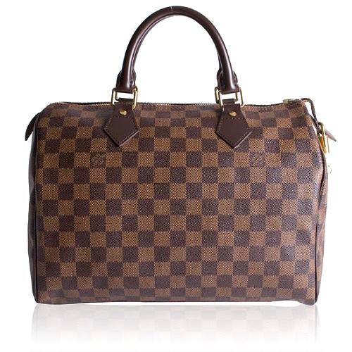 Louis Vuitton Damier Ebene Speedy 30 Satchel Handbag