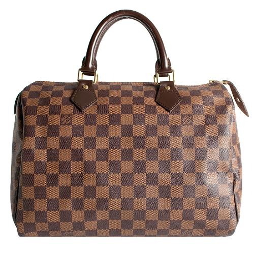 Louis Vuitton Damier Ebene Speedy 30 Satchel Handbag
