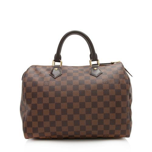 Louis Vuitton Damier Ebene Speedy 30 Satchel