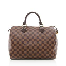 Louis Vuitton Damier Ebene Speedy 30 Satchel