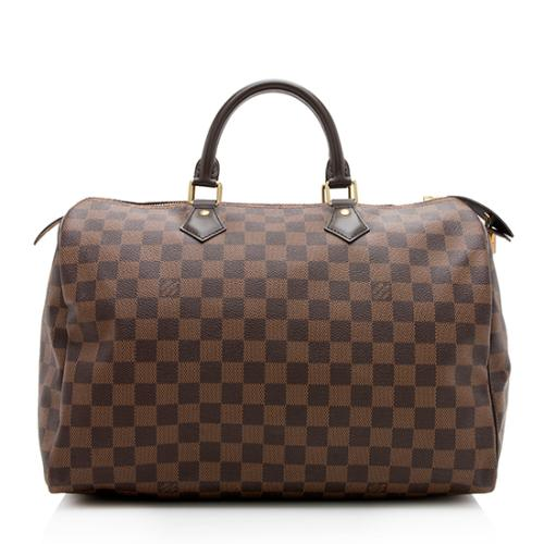 03815891c939 Louis Vuitton Damier Ebene Speedy 35 Satchel