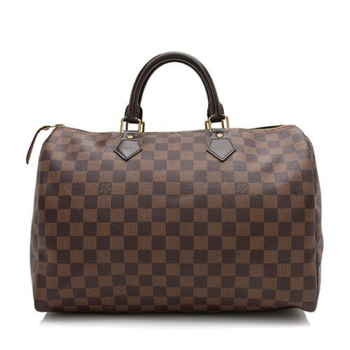 Louis Vuitton Damier Ebene Speedy 35 Satchel