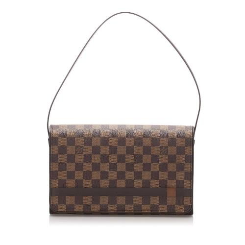Louis Vuitton Damier Ebene Tribeca Carre Shoulder Bag