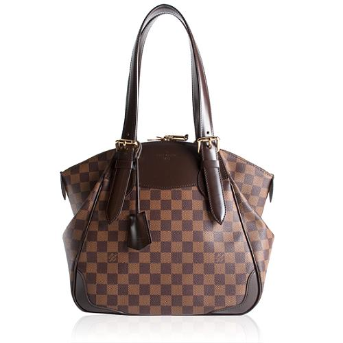 Louis Vuitton Damier Ebene Verona MM Shoulder Handbag