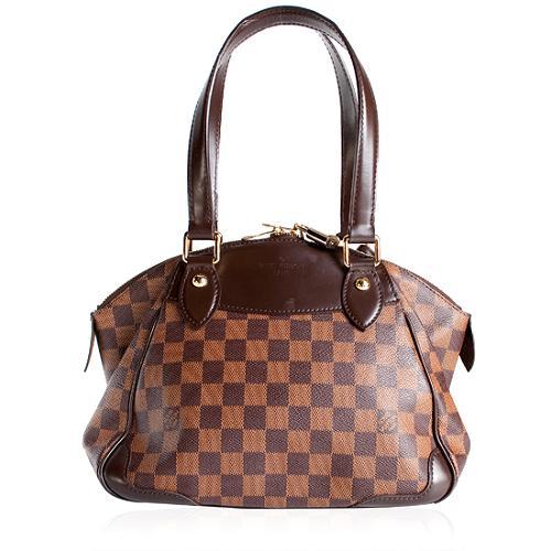 Louis Vuitton Damier Ebene Verona PM Shoulder Handbag