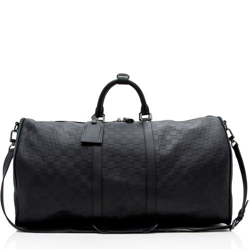 Louis Vuitton Damier Infini Keepall 55 Bandouliere Duffel Bag