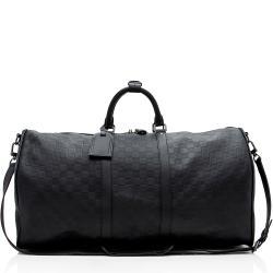 Louis Vuitton Damier Infini Keepall 55 Bandouliere Duffel Bag