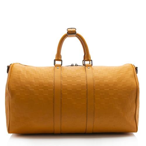 Louis Vuitton Damier Infini Keepall Bandouliere 45 Duffel Bag