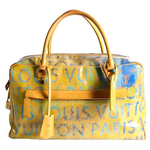 Louis Vuitton Denim Defile Weekender PM Pulp Satchel Handbag