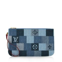 Louis Vuitton Denim Patchwork Neverfull MM Pochette