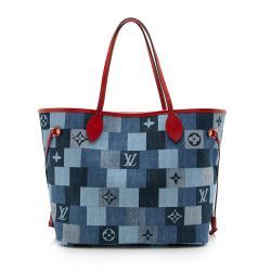 Louis Vuitton Denim Patchwork Neverfull MM Tote
