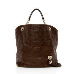 Louis Vuitton Embossed Leather Paris Souple Whisper GM Tote