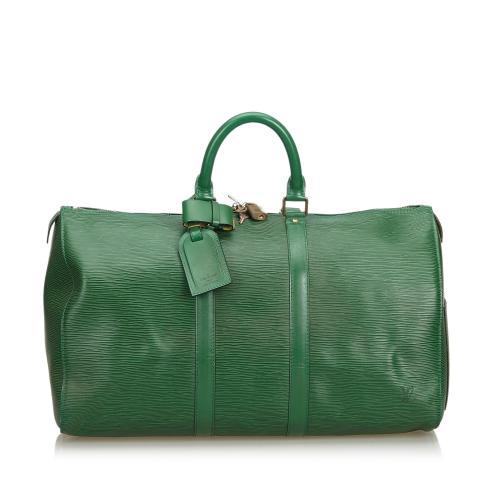 Louis Vuitton Epi Keepall 50 Duffel Bag