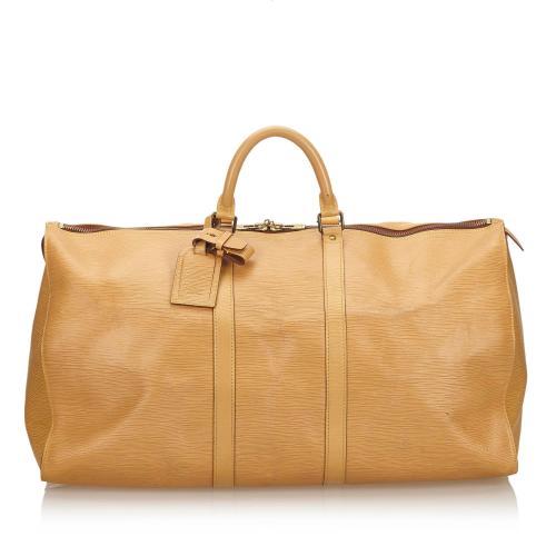 Louis Vuitton Epi Keepall 55 Duffel Bag