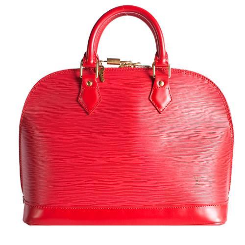 Louis Vuitton Epi Leather Alma Satchel Handbag