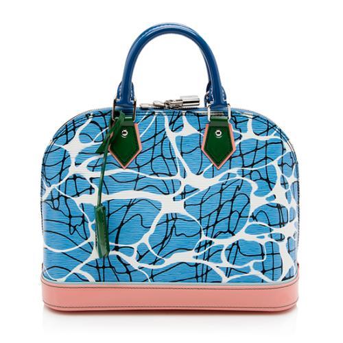 Louis Vuitton Epi Leather Aqua Alma PM Shoulder Bag