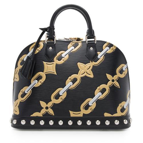 Louis Vuitton Epi Leather Chain Flower Alma PM Satchel
