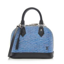 Louis Vuitton Epi Leather Denim Alma BB Satchel