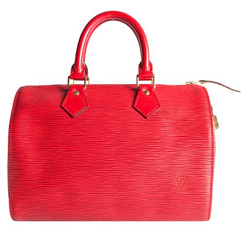 Louis Vuitton Epi Leather Speedy 25 Satchel Handbag