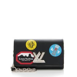 Louis Vuitton Epi Leather World Tour Twist Chain Wallet