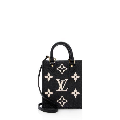 Louis Vuitton Giant Empreinte Leather Petit Sac Plat Shoulder Bag