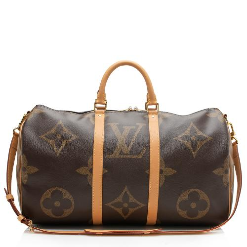 Louis Vuitton Giant Monogram Keepall 50 Bandlouliere Duffel Bag