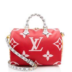Louis Vuitton Giant Monogram Speedy Bandouliere 30 Satchel