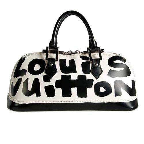 Louis Vuitton Graffiti Alma Horizontal Satchel Handbag
