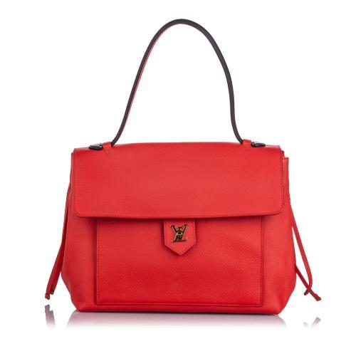 Louis Vuitton Leather LockMe MM Satchel