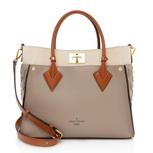 Louis Vuitton Leather On My Side MM Tote
