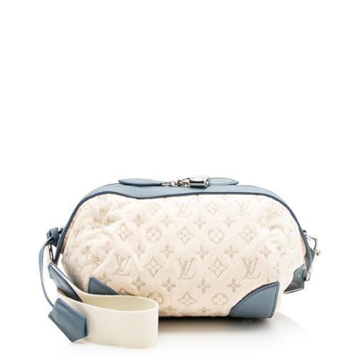 Louis Vuitton Limited Edition Blue Monogram Denim Round Pochette Bag