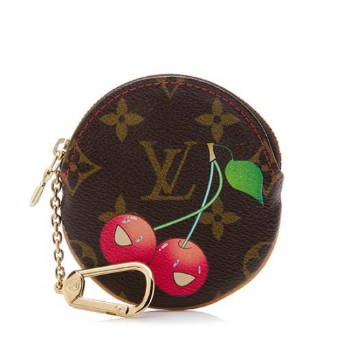 72dd6463421 Louis Vuitton Limited Edition Monogram Cerises Round Coin Pouch