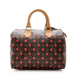 Louis Vuitton Limited Edition Cerises Speedy 25 Satchel
