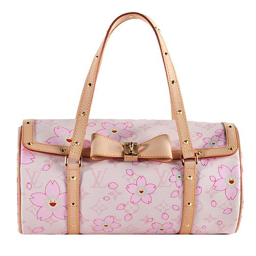 2e57f9a06a7a Louis Vuitton Limited Edition Cherry Blossom Papillon Satchel Handbag