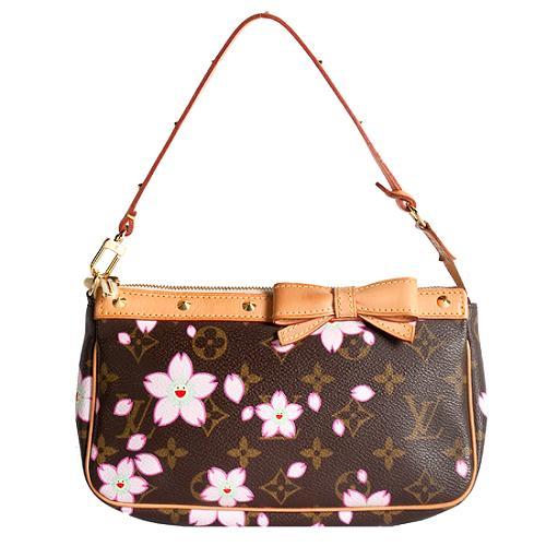 Louis Vuitton Limited Edition Cherry Blossom Pochette Accessoires Handbag