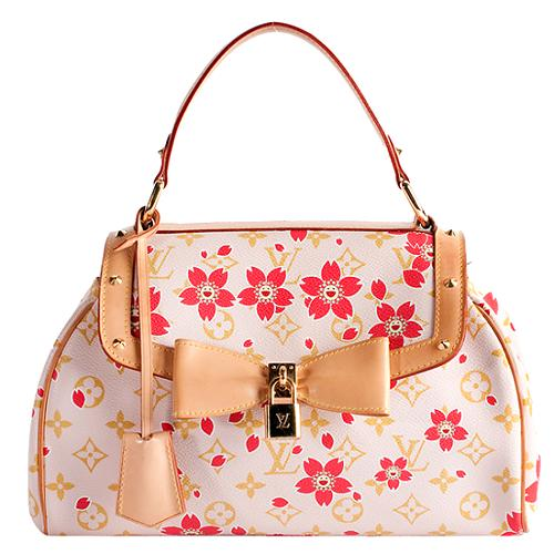 bf02a0d5b7a Louis Vuitton Limited Edition Cherry Blossom Sac Retro Satchel Handbag