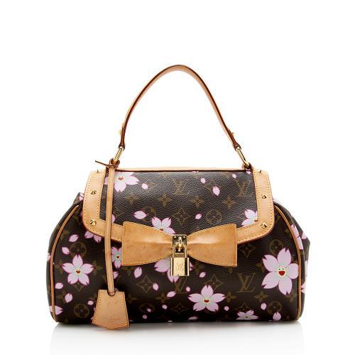 Louis Vuitton Limited Edition Cherry Blossom Sac Retro Satchel