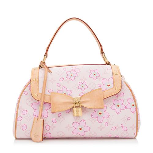 Louis Vuitton Limited Edition Cherry Blossom Sac Retro Satchel