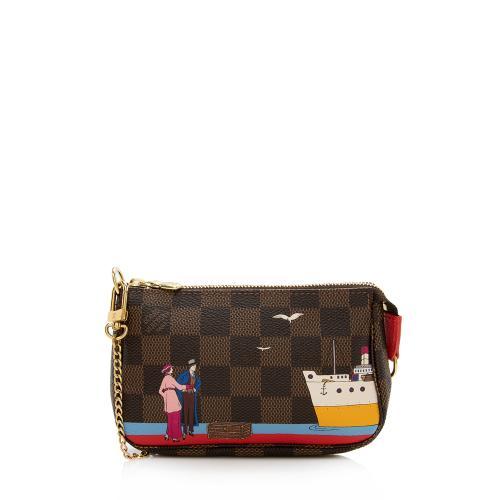 Louis Vuitton Limited Edition Damier Ebene Animation Mini Pochette