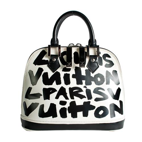Louis Vuitton Limited Edition Glazed Leather Alma Graffiti MM Handbag
