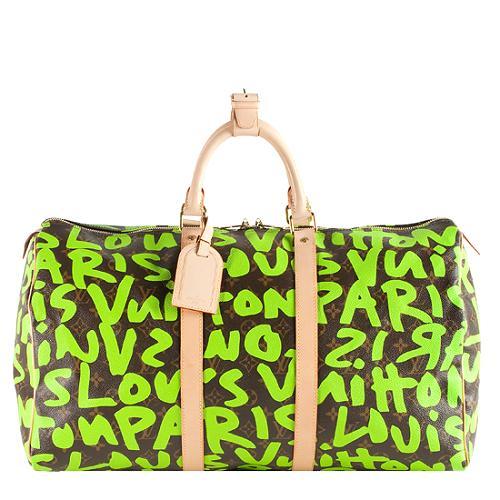 Louis Vuitton Limited Edition Graffiti Keepall 50 Duffle Bag